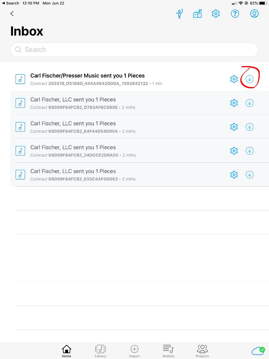 Newzik Messages Screenshot